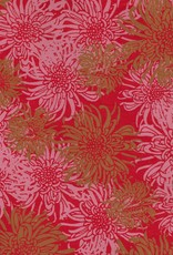 "Laurelai Chrysanthemum on Red, 20"" x 28"""