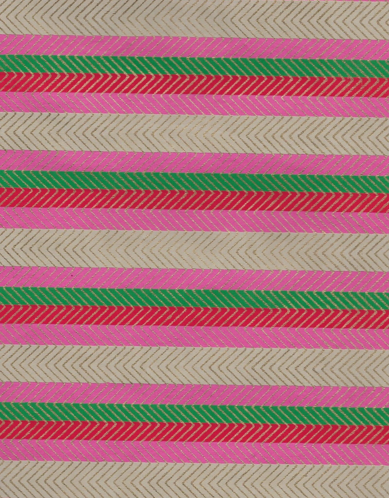 Stripes with Zig Zag Gold Lines