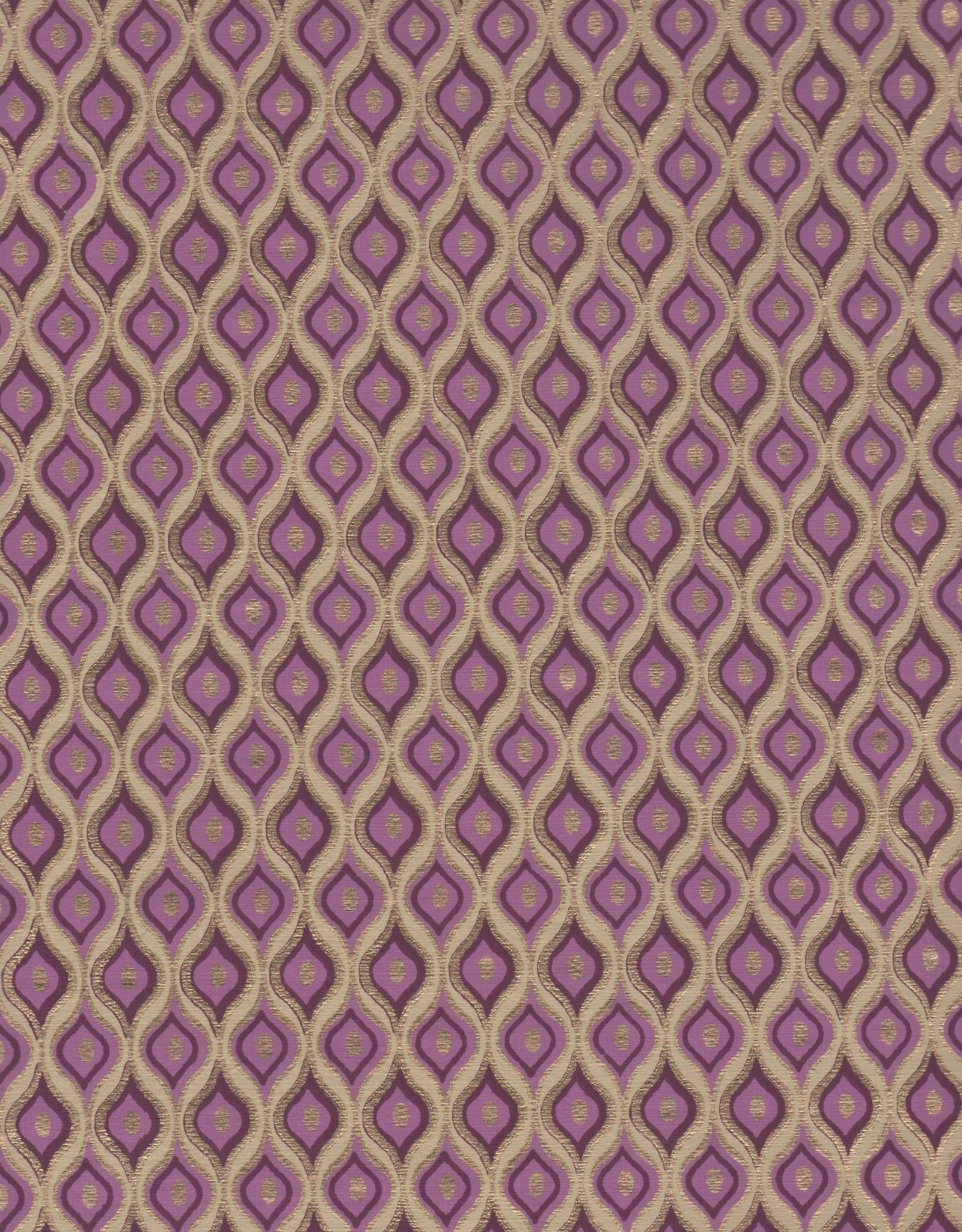 "Gold Ogee Purple, 22"" x 30"""
