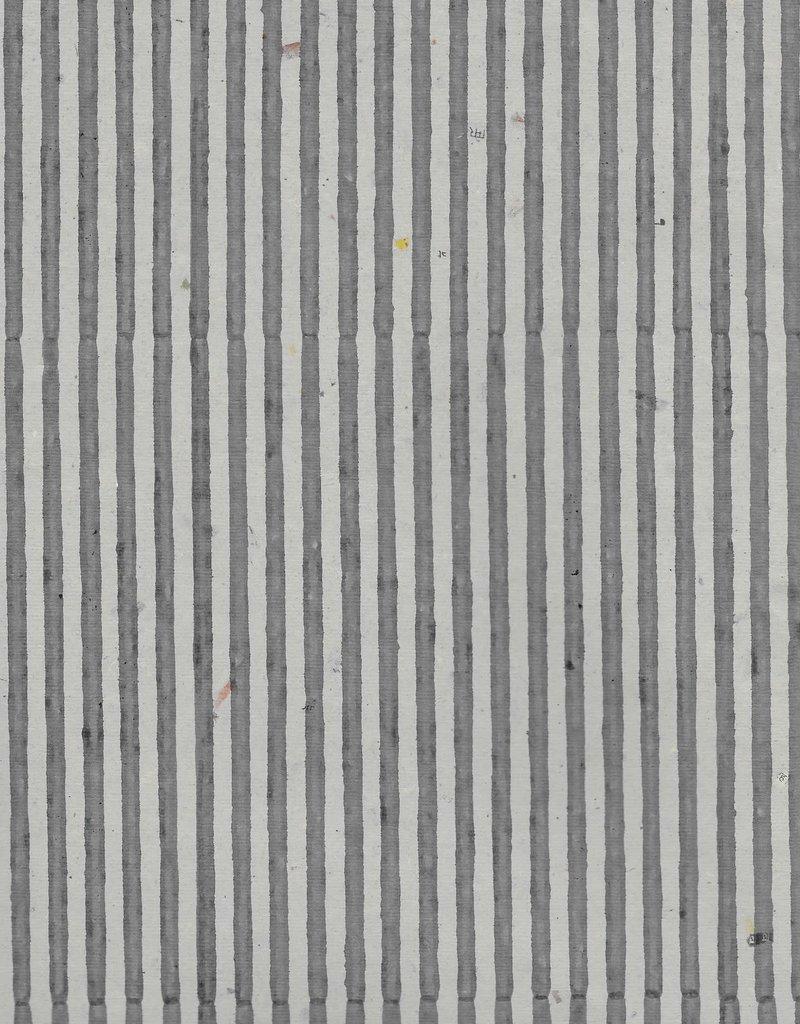 "India Indian Grey Stripes, 22"" x 30"""