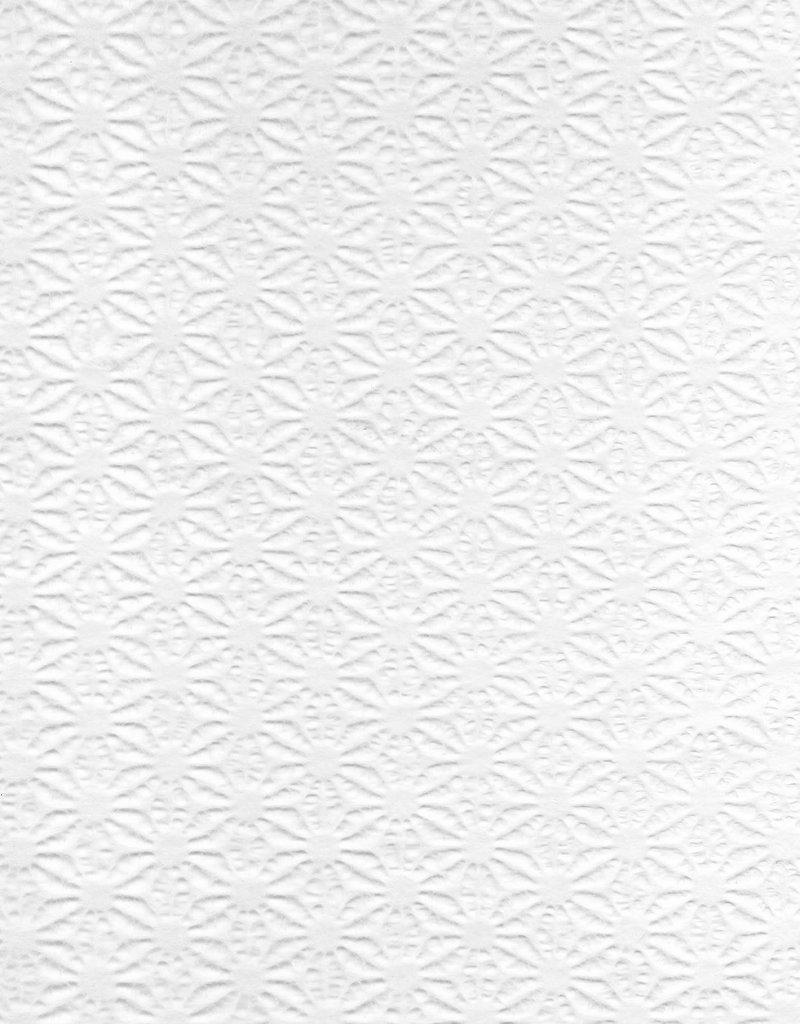 "Japanese Asanoha Lace White, 21"" x 31"""