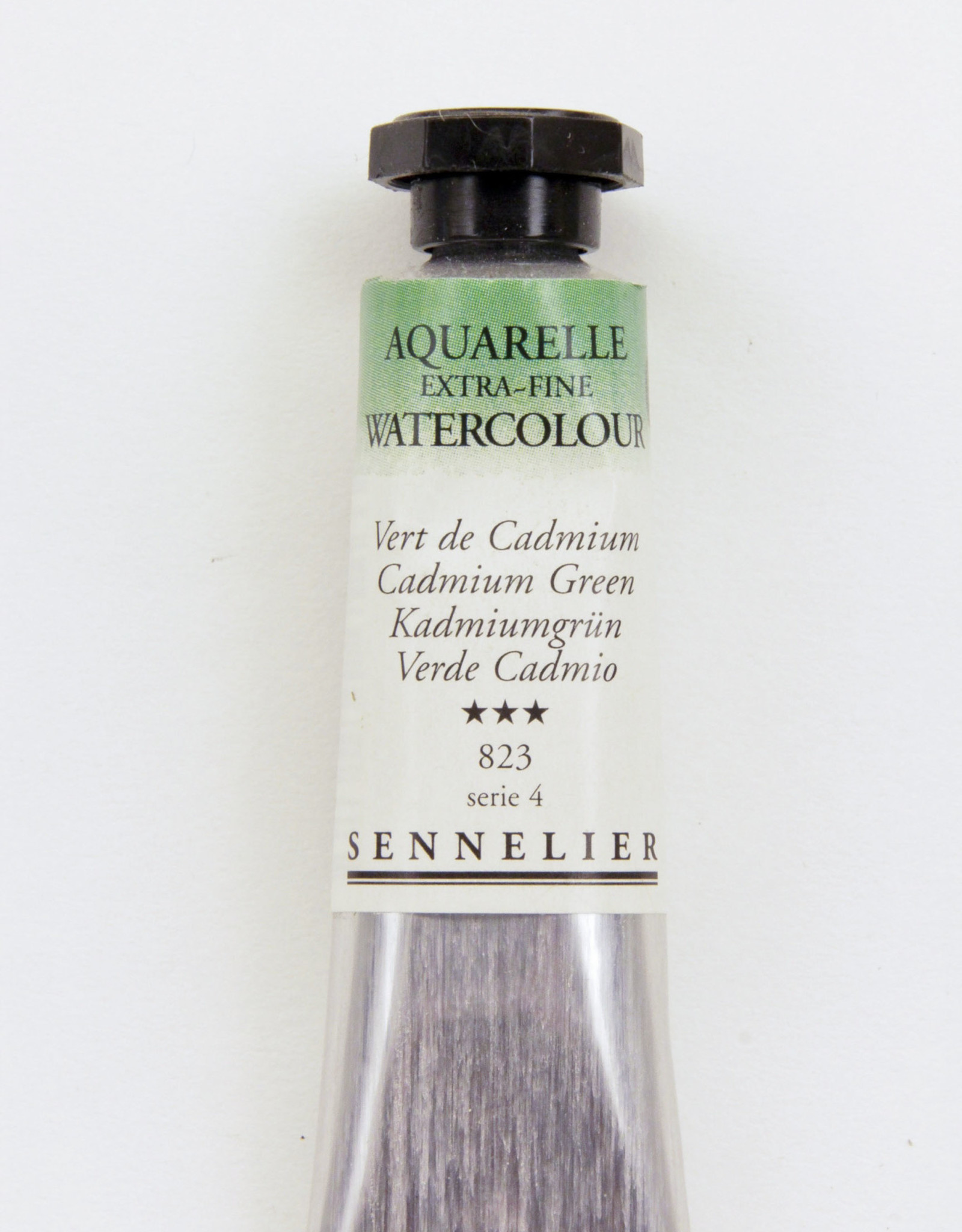 Sennelier, Aquarelle Watercolor Paint, Cadmium Green, 823, 10ml Tube, Series 4