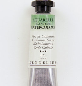France Sennelier, Aquarelle Watercolor Paint, Cadmium Green, 823, 10ml Tube, Series 4