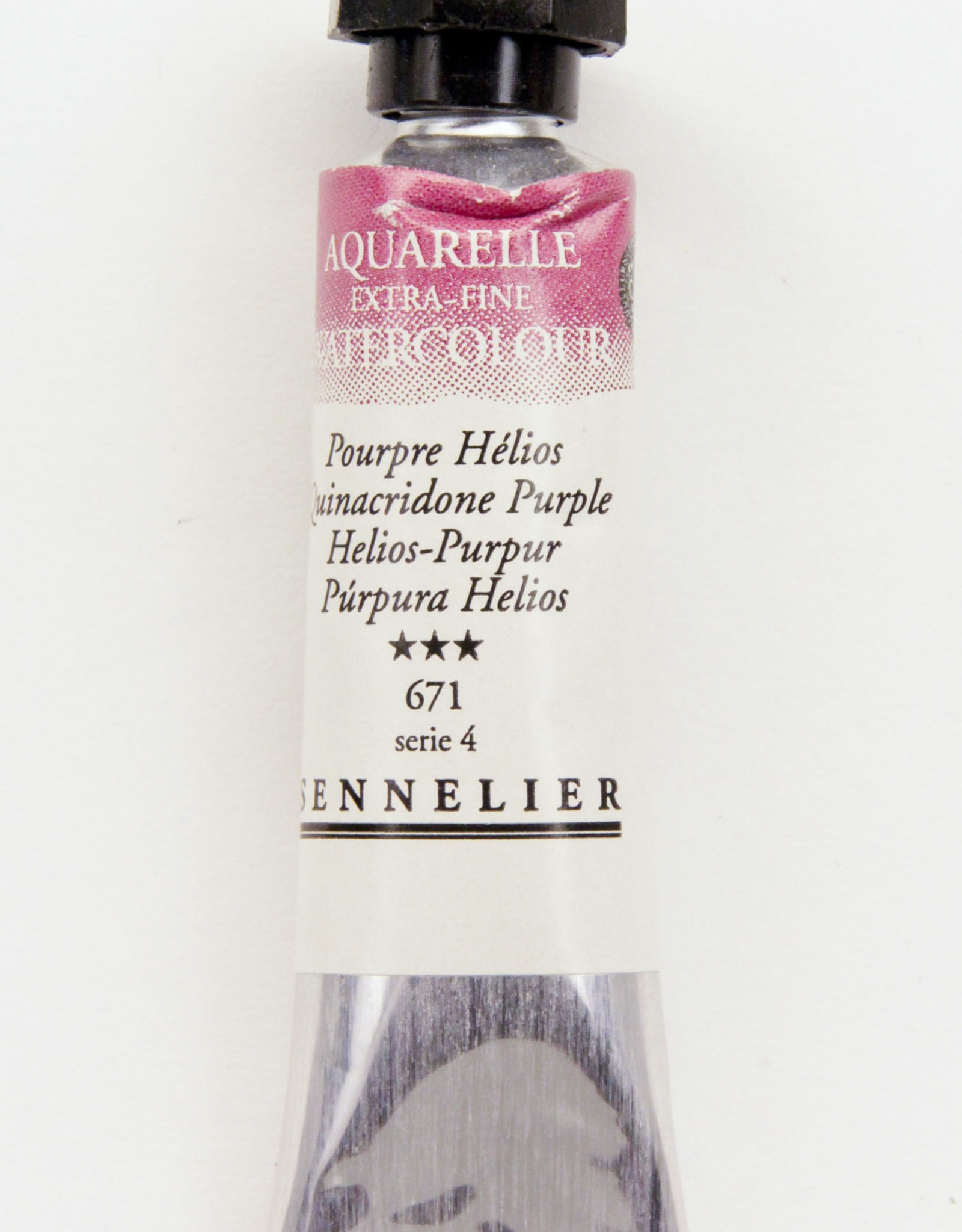 Sennelier, Aquarelle Watercolor Paint, Quinacridone Purple, 671,10ml Tube, Series 3