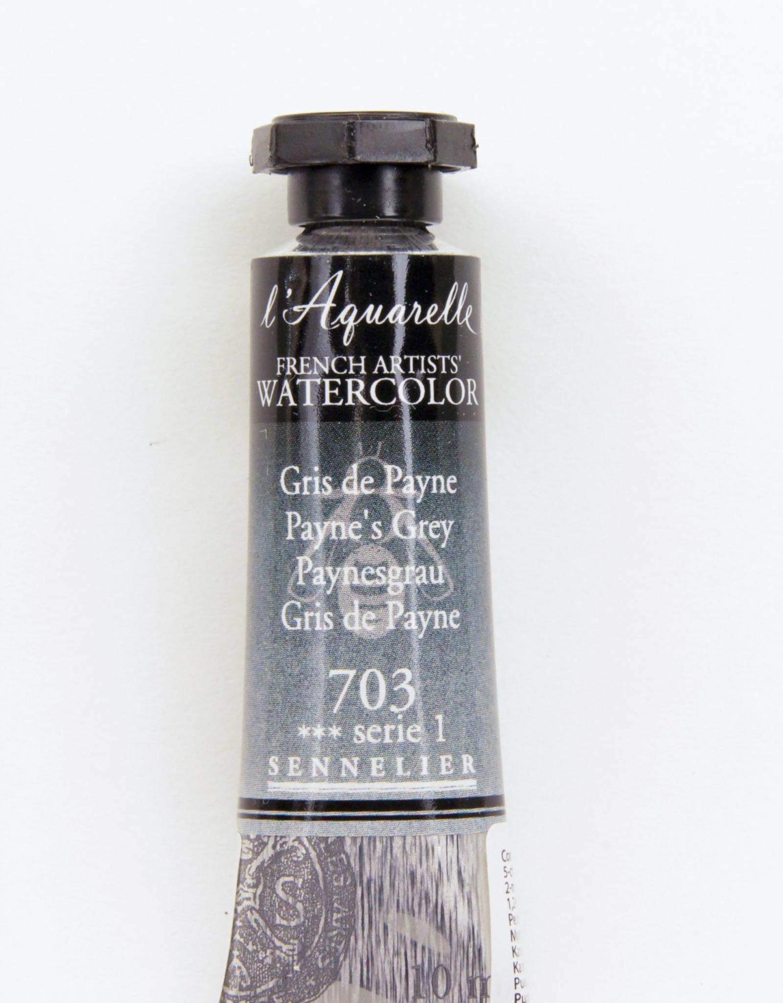 Sennelier, Aquarelle Watercolor Paint, Payne's Grey, 703,10ml Tube, Series 1