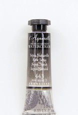Sennelier, Aquarelle Watercolor Paint, Raw Sepia, 443, 10ml Tube, Series 1