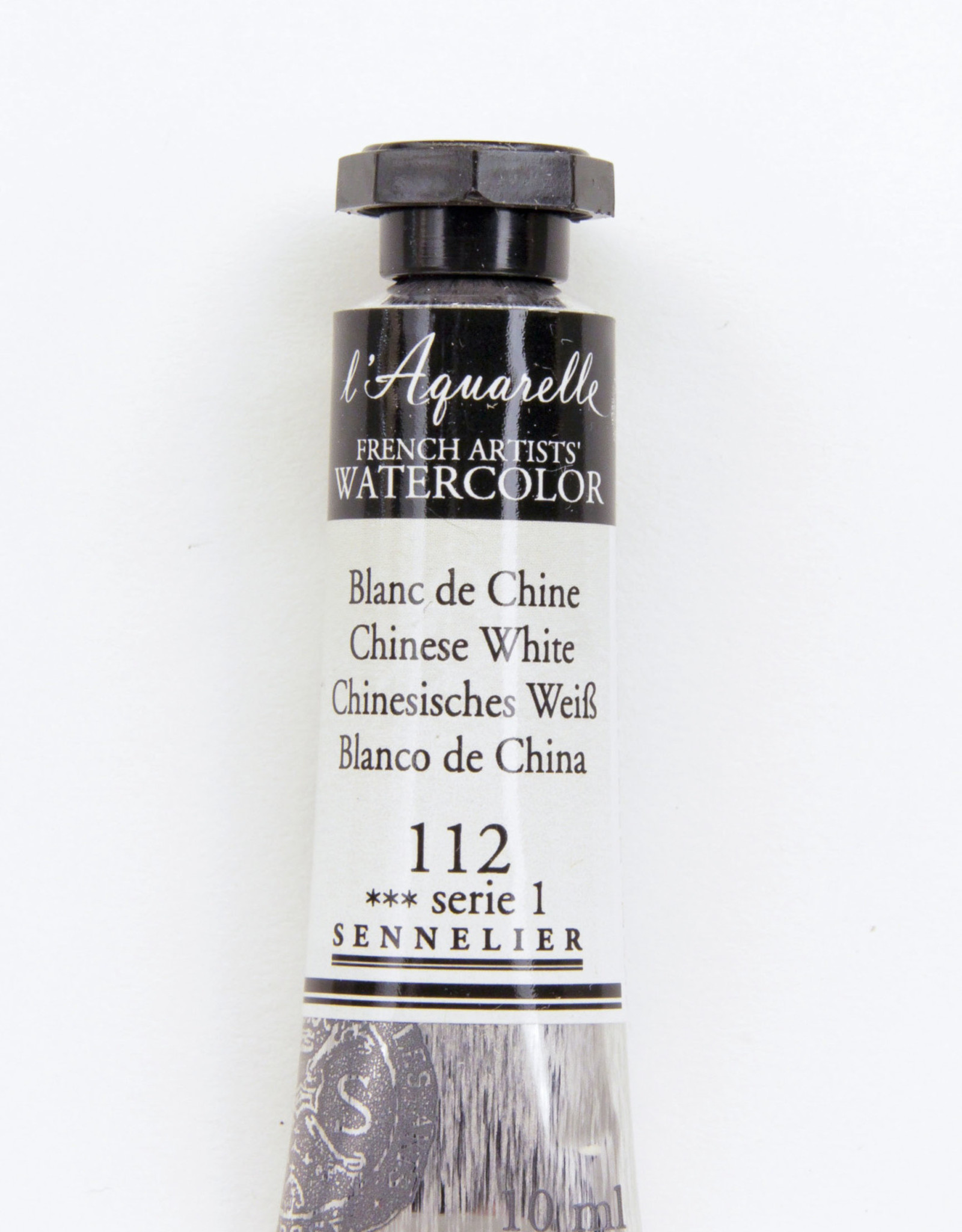 Sennelier, Aquarelle Watercolor Paint, Chinese White, 112, 10ml Tube, Series 1