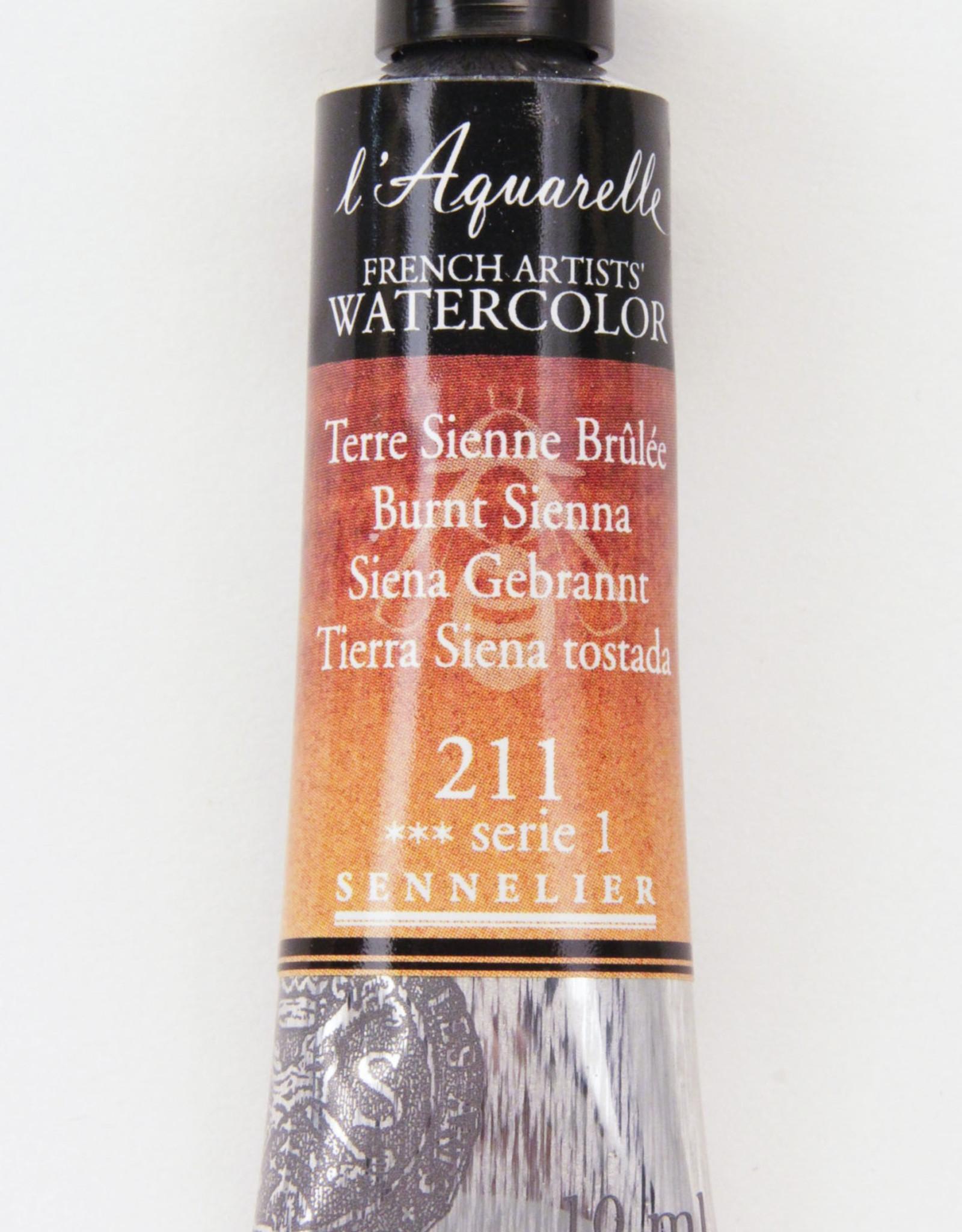 Sennelier, Aquarelle Watercolor Paint, Burnt Sienna, 211,10ml Tube, Series 1