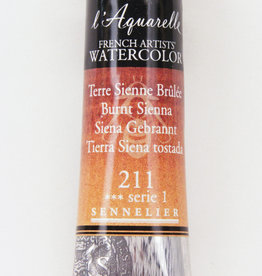 Sennelier, Aquarelle Watercolor Paint, Burnt Sienna, 211,10ml Tube, Series 1