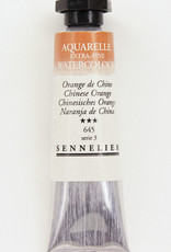 Sennelier, Aquarelle Watercolor Paint, Chinese Orange, 645, 10ml Tube, Series 3