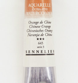 Sennelier, Aquarelle Watercolor Paint, Chinese Orange, 645, 10ml Tube, Series 3