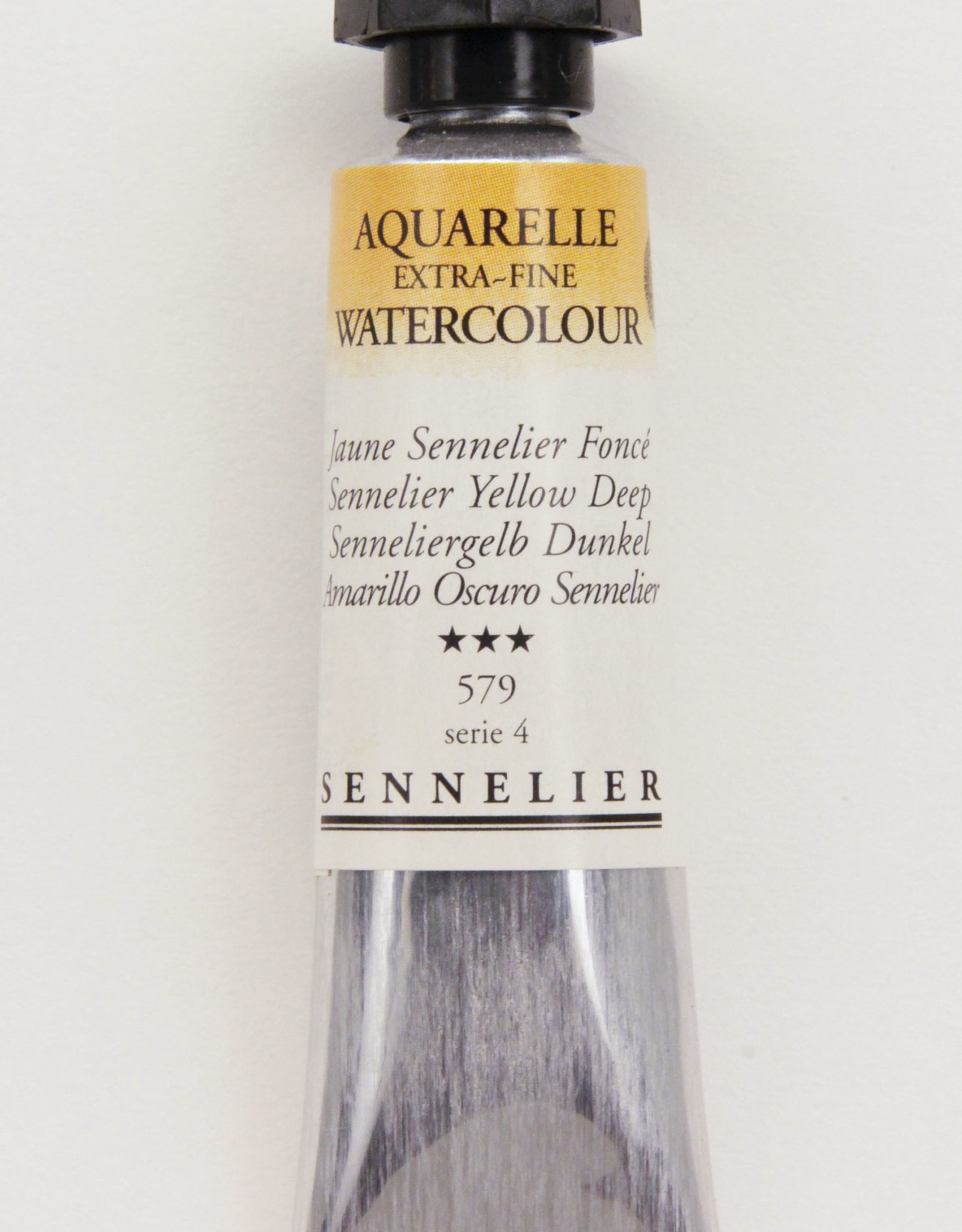 Sennelier, Aquarelle Watercolor Paint, Sennelier Yellow Deep, 579,10ml Tube, Series 4