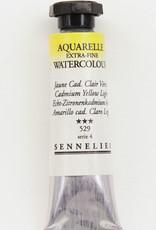 Sennelier, Aquarelle Watercolor Paint, Cadmium Yellow Light, 529, 10ml Tube, Series 4