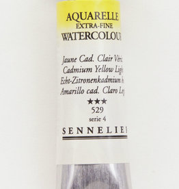 France Sennelier, Aquarelle Watercolor Paint, Cadmium Yellow Light, 529, 10ml Tube, Series 4