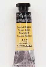 Sennelier, Aquarelle Watercolor Paint, Naples Yellow, 567, 10ml Tube, Series 1
