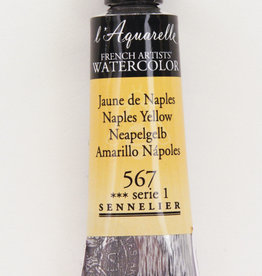 Sennelier, Aquarelle Watercolor Paint, Naples Yellow, 567, 10ml Tube, Series 1