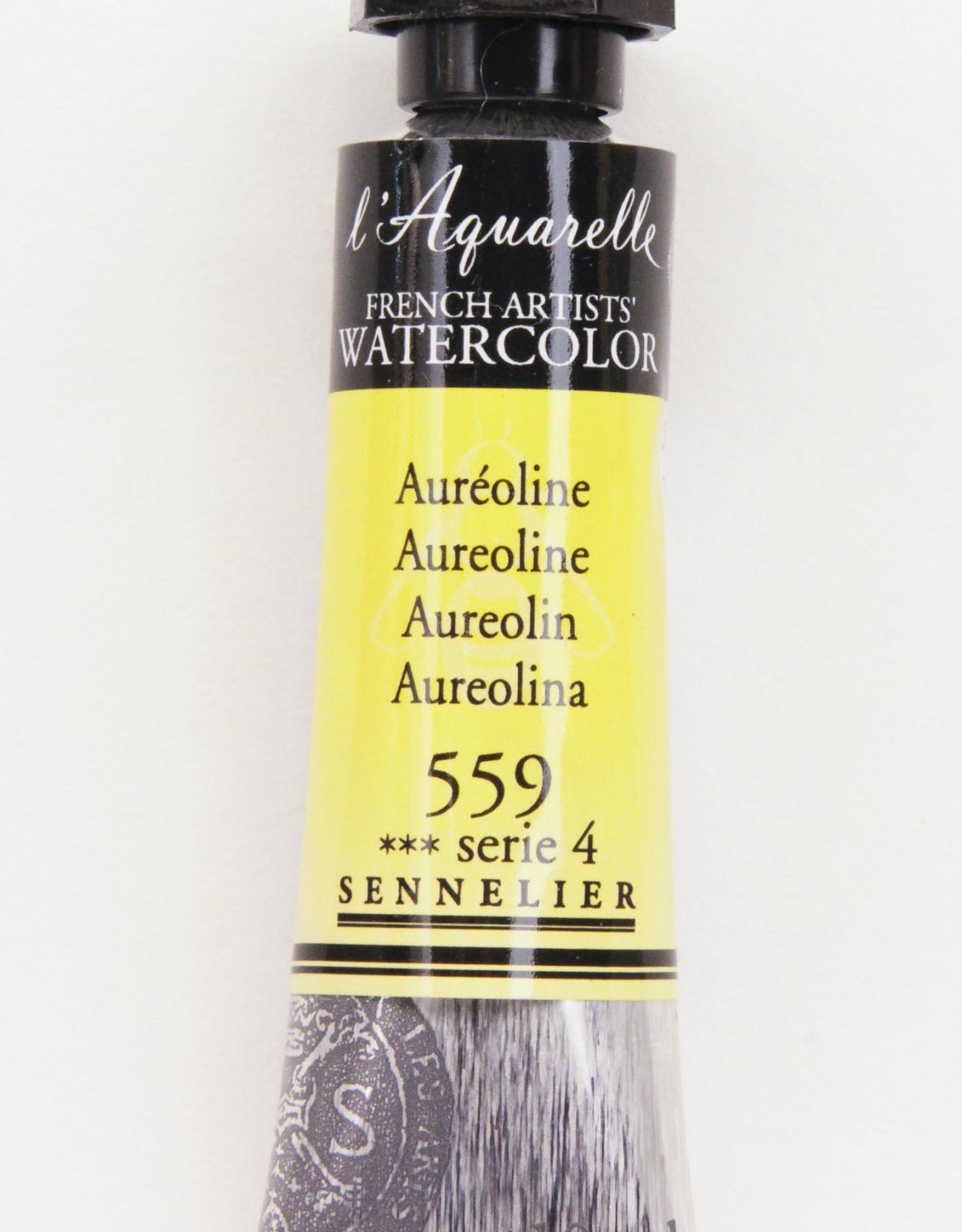 Sennelier, Aquarelle Watercolor Paint, Aureoline, 559, 10ml Tube, Series 4