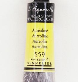 France Sennelier, Aquarelle Watercolor Paint, Aureoline, 559, 10ml Tube, Series 4