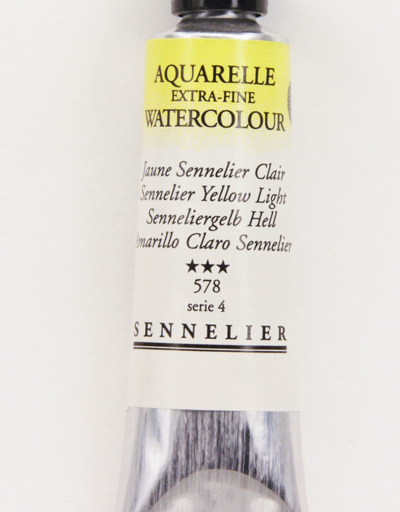 Sennelier, Aquarelle Watercolor Paint, Yellow Light, 578,10ml Tube, Series 1