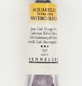 France Sennelier, Aquarelle Watercolor Paint, Cadmium Yellow Orange, 537, 10ml Tube, Series 4