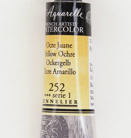 Sennelier, Aquarelle Watercolor Paint, Yellow Ochre, 252,10ml Tube, Series 1