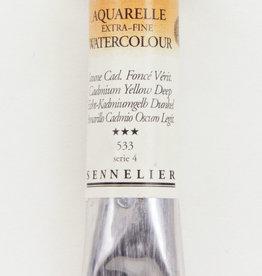 France Sennelier, Aquarelle Watercolor Paint, Cadmium Yellow Deep, 533,10ml Tube, Series 4