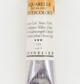 Sennelier, Aquarelle Watercolor Paint, Cadmium Yellow Deep, 533,10ml Tube, Series 4