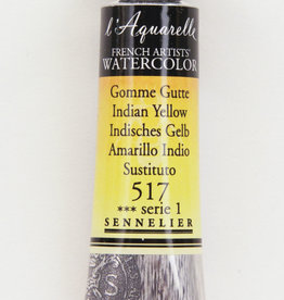 Sennelier, Aquarelle Watercolor Paint, Indian Yellow, 517,10ml Tube, Series 1