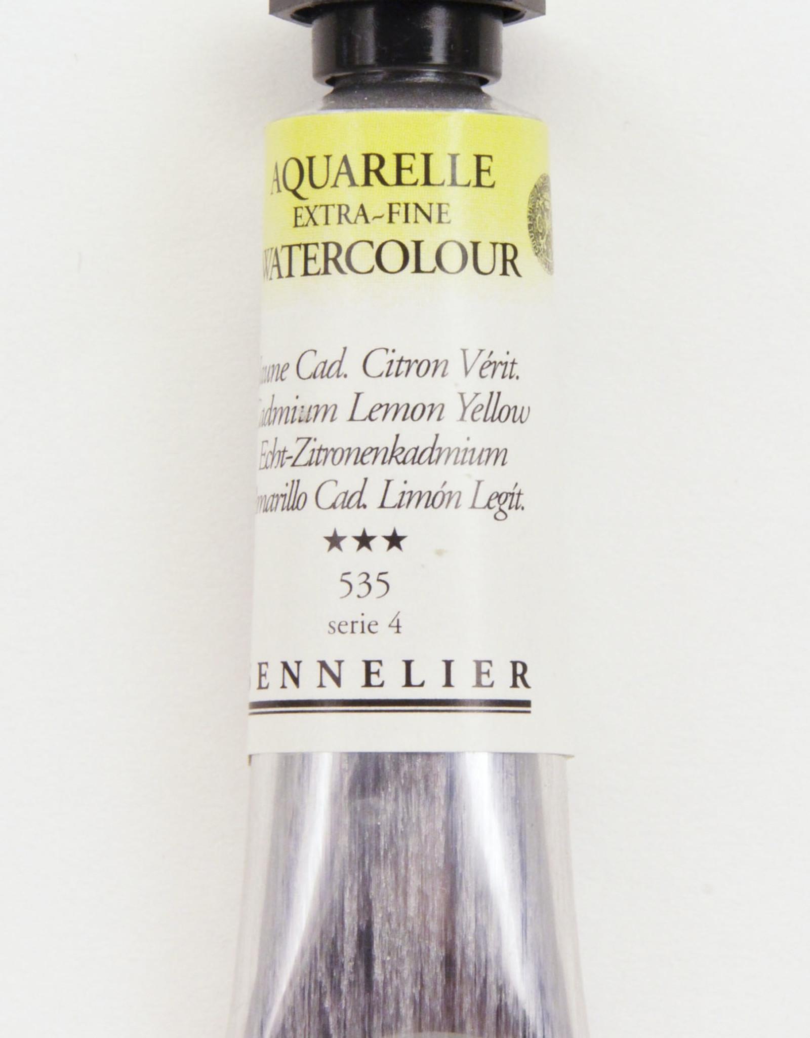 Sennelier, Aquarelle Watercolor Paint, Cadmium Lemon Yellow, 535, 10ml Tube, Series 4
