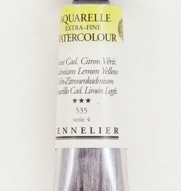 France Sennelier, Aquarelle Watercolor Paint, Cadmium Lemon Yellow, 535, 10ml Tube, Series 4