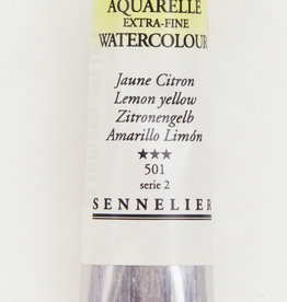 Sennelier, Aquarelle Watercolor Paint, Lemon Yellow, 501,10ml Tube, Series 1