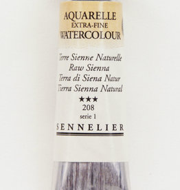 Sennelier, Aquarelle Watercolor Paint, Raw Sienna, 208, 10ml Tube, Series 1