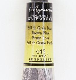 France Sennelier, Aquarelle Watercolor Paint, Brown Pink, 445,10ml Tube, Series 1