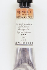 Sennelier, Aquarelle Watercolor Paint, Red Orange, 640, 10ml Tube, Series 4