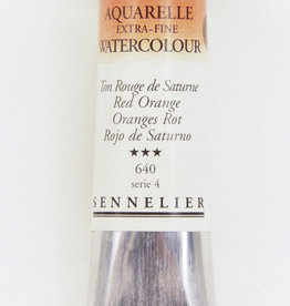 Sennelier, Aquarelle Watercolor Paint, Red Orange, 640, 10ml Tube, Series 4