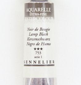 Sennelier, Aquarelle Watercolor Paint, Lamp Black, 753,10ml Tube, Series 1