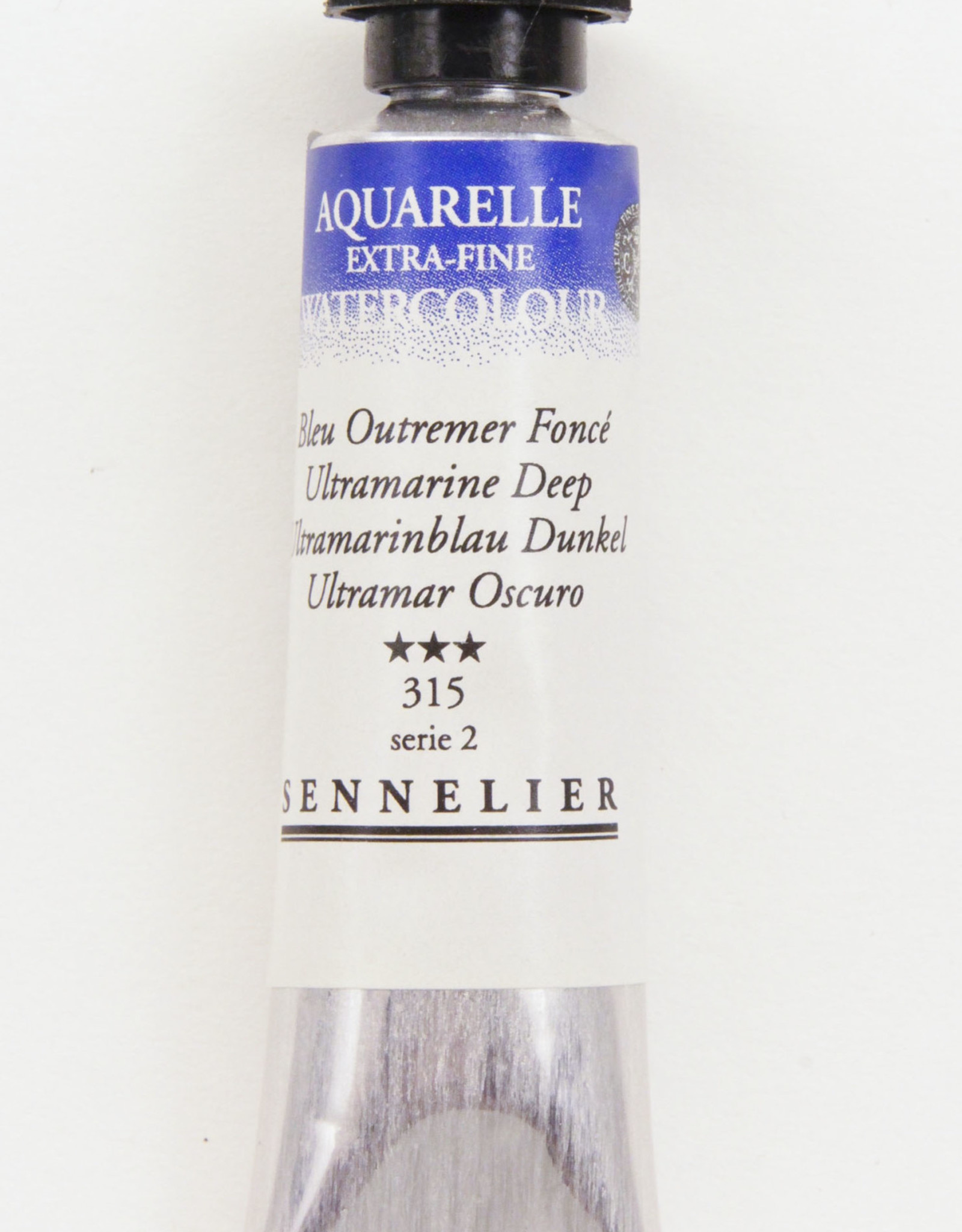 Sennelier, Aquarelle Watercolor Paint, Ultramarine Deep, 315,10ml Tube, Series 2