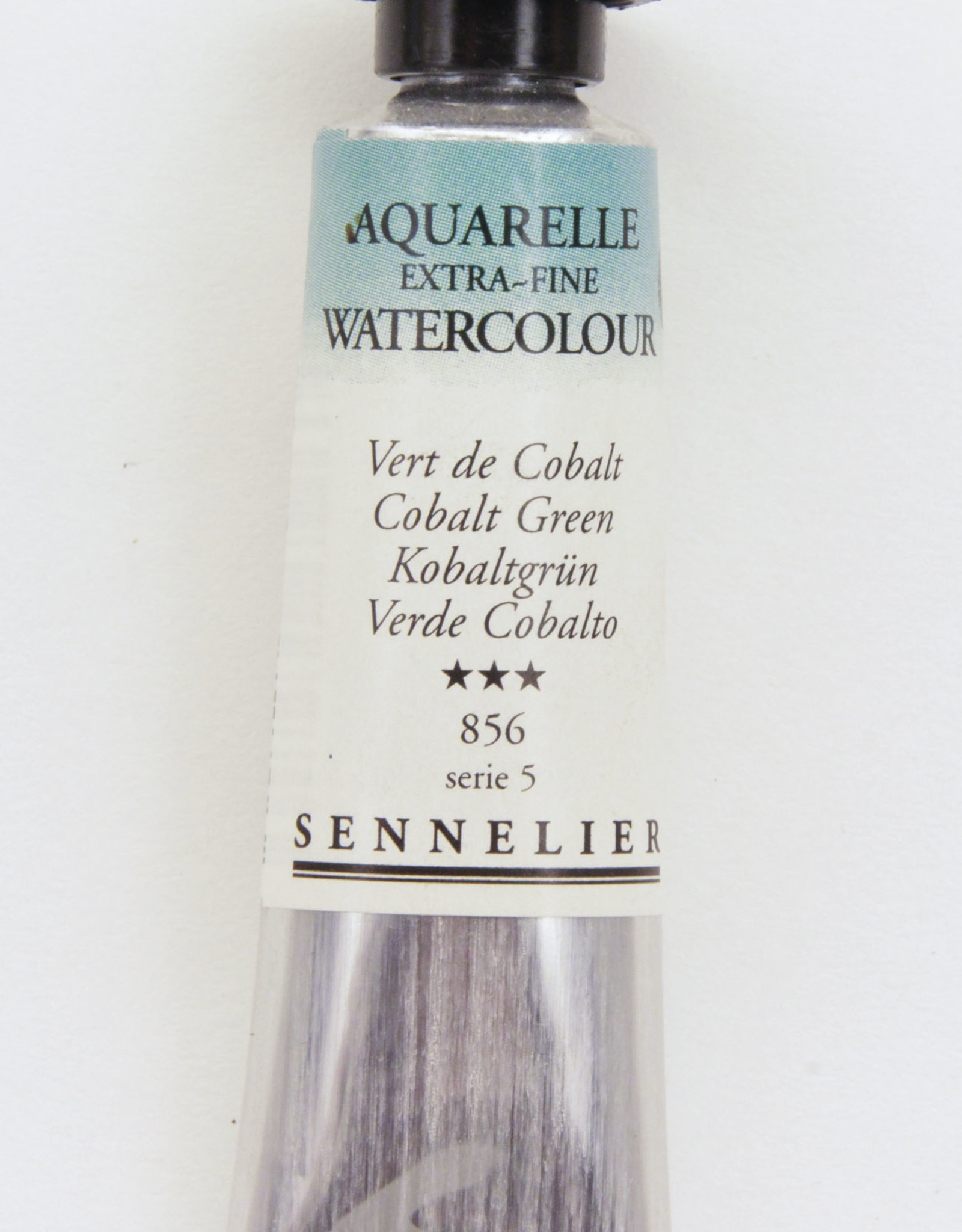 Sennelier, Aquarelle Watercolor Paint, Cobalt Green, 856, 10ml Tube, Series 5