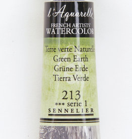Sennelier, Aquarelle Watercolor Paint, Green Earth, 213,10ml Tube, Series 1