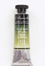 Sennelier, Aquarelle Watercolor Paint, Sap Green, 819, 10ml Tube, Series 1
