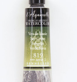 Sennelier, Aquarelle Watercolor Paint, Sap Green, 819, 10ml Tube, Series 1