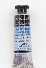 Sennelier, Aquarelle Watercolor Paint, Cerulean Blue, Red Shade, 305, 10ml Tube, Series 4