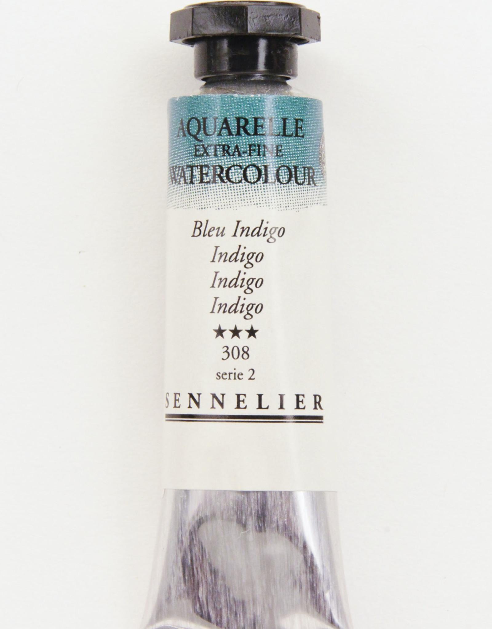 Sennelier, Aquarelle Watercolor Paint, Indigo, 308,10ml Tube, Series 2