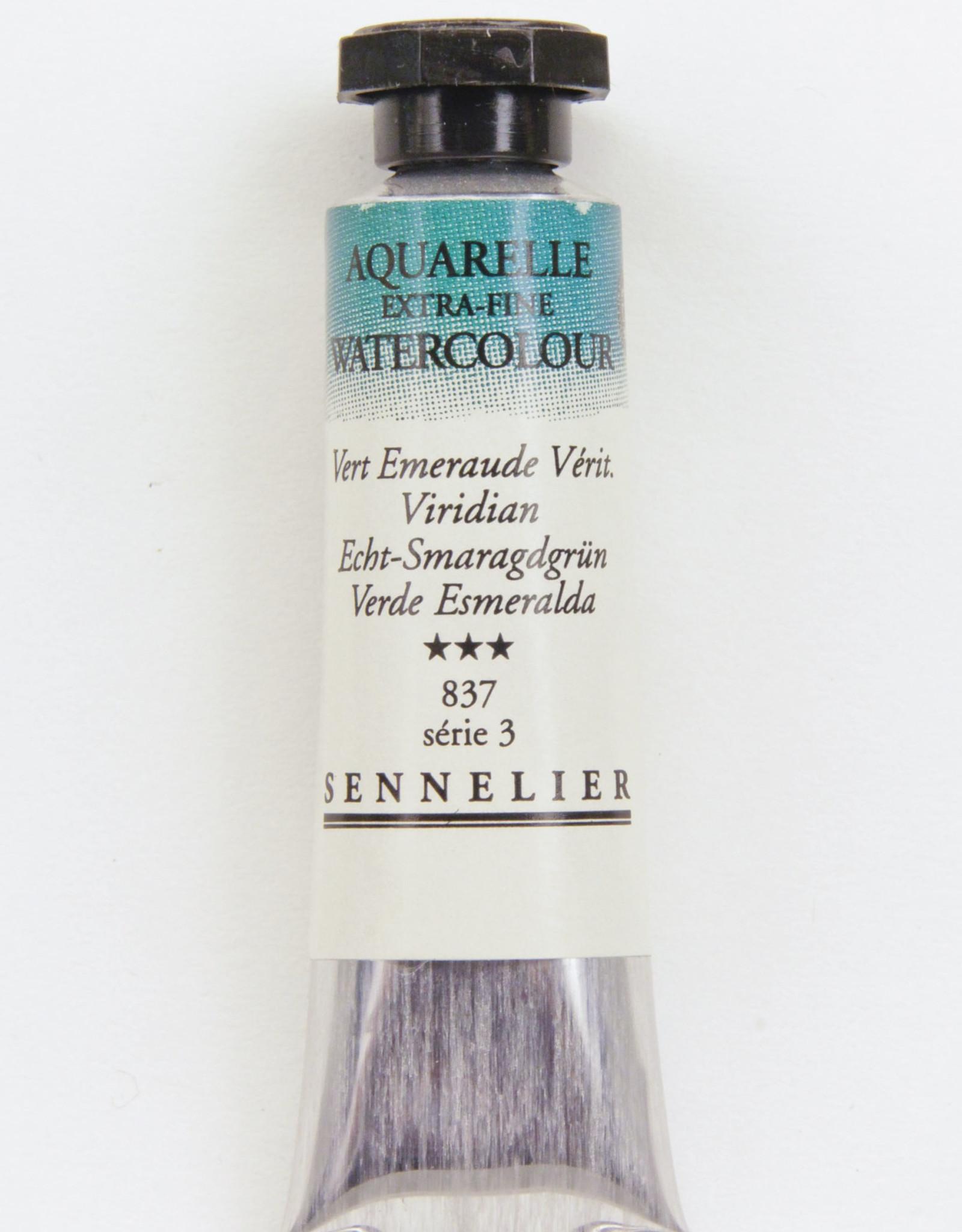 Sennelier, Aquarelle Watercolor Paint, Viridian, 837,10ml Tube, Series 5
