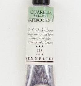 France Sennelier, Aquarelle Watercolor Paint, Chromium Oxide Green, 815, 10ml Tube, Series 3