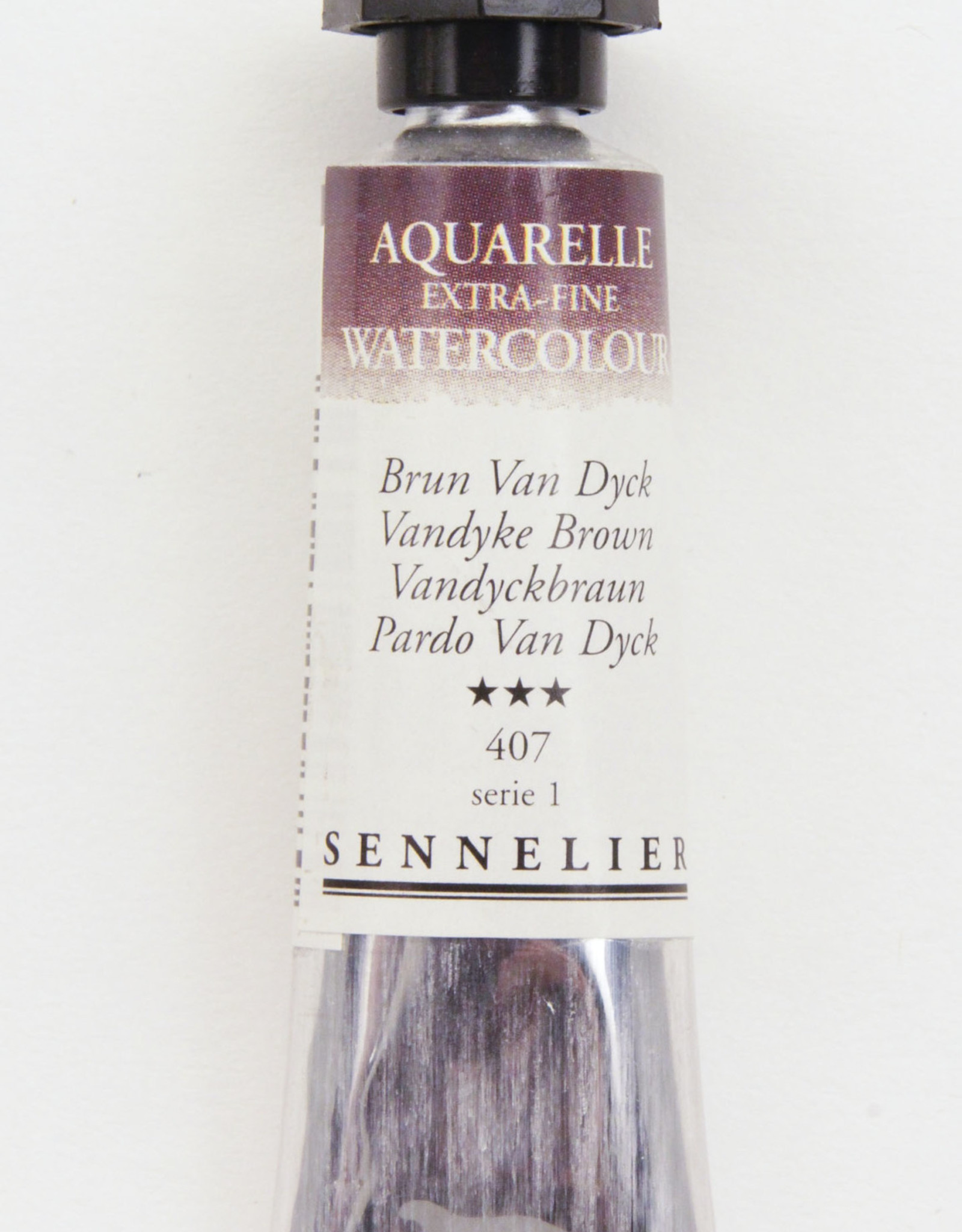 Sennelier, Aquarelle Watercolor Paint, Van Dyke Brown, 407,10ml Tube, Series 1