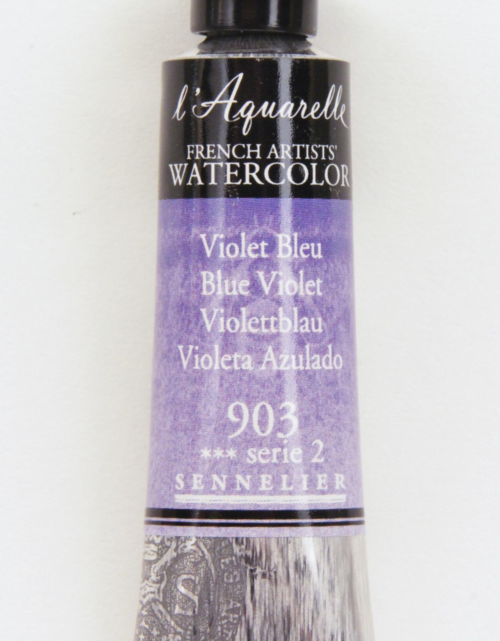 Sennelier, Aquarelle Watercolor Paint, Blue Violet,  903,10ml Tube, Series 2