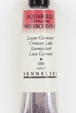 Sennelier, Aquarelle Watercolor Paint, Crimson Lake, 688, 10ml Tube, Series 3