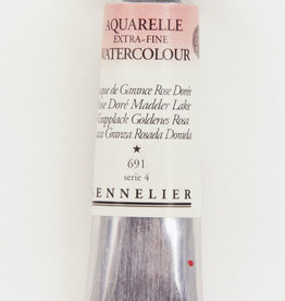 Sennelier, Aquarelle Watercolor Paint, Rose Dore Madder Lake, 690, 10ml Tube, Series 2