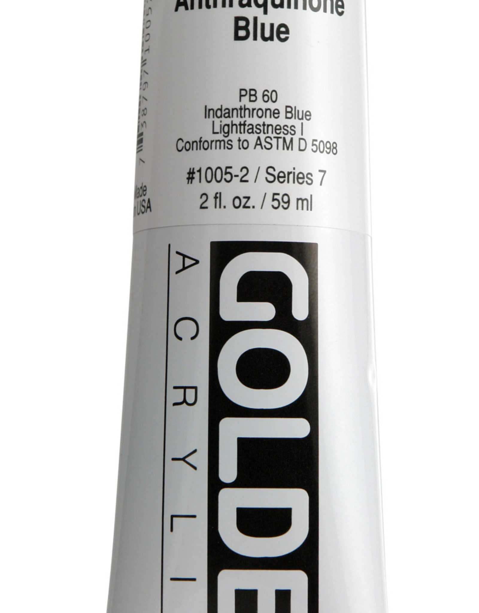 Golden, Heavy Body Acrylic Paint, Anthraquinone Blue, Series 7, Tube, 2fl.oz.